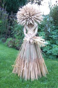 Well, her head consists of wheat. Yet, she's almost entirely made from straw. Guess she sometimes makes it hay.
