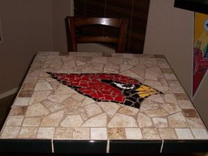 Like how it just has the Arizona Cardinal and how it's surrounded with regular colored stones. Probably made by someone with too much time on their hands.