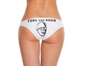 Because there's nothing sexier than having a picture of an old Socialist Jew on your ass. Still, I like Bernie, but this is ridiculous.