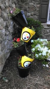 Notice how they're all stacked together in the black and gold. Any gardener in Steeler nation has to have it.