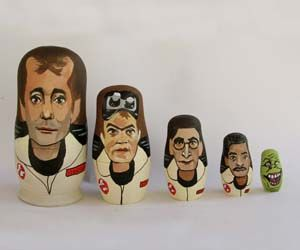 Kind of bummed they don't have the Stay Puft Marshmallow Man in this Ghostbusters line up. Well, you can't win them all.