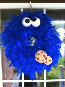 Even features the rolling eyes and chocolate chip cookies. And the feathers add to the fuzziness. So adorable.