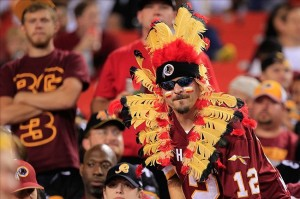 "Native Americans, I give you full permission to look upon this man in disdain for offending your culture. Then again, how many times have there been calls to get to Washington Redskins to change their damn name. Because ""redskin"" is a derogatory slur."