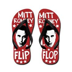 Still, these sandals might make you feel nostalgic for 2012. At least I'd be able to vote for Obama for reelection. Still, at least Romney didn't change his position on Trump whom he will not vote for this year.
