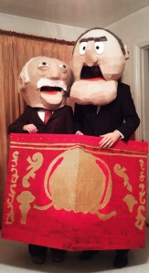 As you can see, this is a group costume of Statler and Waldorf in paper mache. They're the Muppets' resident hecklers.
