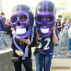 Don't worry, they're just skull masks. I'm sure Ray Lewis isn't hiding in one of them. Honest.