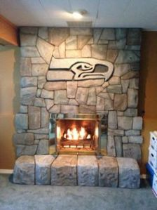 As with the fire hydrant, it's not for sale at all. But you have to admire how the Seahawk logo blends in with the stone work.