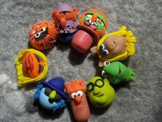 Each bead here is made from polymer clay. But at least it has some of your favorite characters.