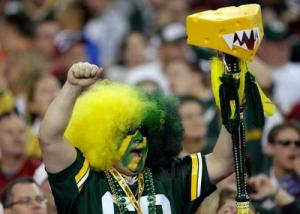 Because for this Packers' fan, his cheese on a stick has teeth. So if you're not a fan of the Green Bay Packers, you might want to watch out.
