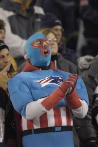 Even though spandex is hardly a great insulator. And the fact, a lot of fans outside New England hate them.