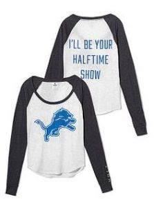 "Has the ""I'll be your halftime show"" on the back. And I know very what that means which has nothing to do with marching bands."