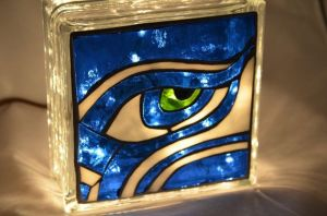 This one uses the Seattle Seahawk logo and contains a green seahawk eye. Wanted to put it on last year's NFL craft post but didn't have the room. So it goes on this one.