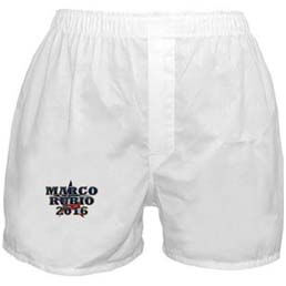 Marco Rubio boxers? Seriously, this guy must've aching for campaign contributions. Still, when it comes to underwear, this is probably overpriced.