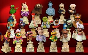 Yes, these are Muppet busts. I know it's crazy but these exists. You'll probably have to pay through the nose to collect them all.