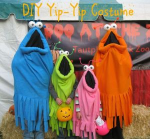 Then again, these costumes are probably among the easiest to make. So why not do one for the whole family?