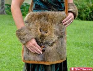 Chances are you might already have one made from cow leather. But this critter purse is pure taxidermy. Creepy.