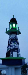 Even has a bright green light in consistency with the team's colors. Not sure if it's a good or bad thing.
