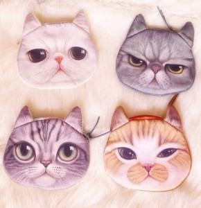Come in 4 different expressions like sad, angry, normal, and downright evil. Then again, cat faces are hard to read.