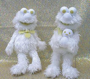 Is it just me or does an all white Elmo look very creepy? Guaranteed to haunt your dreams.