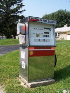 Because it's used for holding mail, not fuel. Also, it's kind of in an old fashioned style like 1950s.