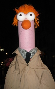 This has Beaker not wearing his lab coat. Not sure if I'd call him a natty dress though.