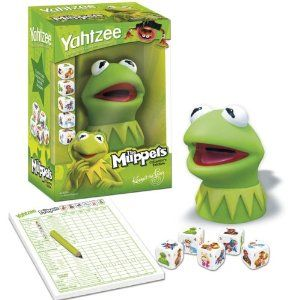 Nothing says fun like rolling dice in Kermit's disembodied head. Christ, that's just really messed up.