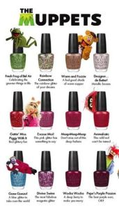 The Miss Piggy nail polish colors make sense. The other ones don't. Seriously, why?