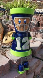 I know I had a lot of Seattle Seahawks stuff on this post. But I just couldn't past this little guy up, especially with his little pot arms and legs. So cute.