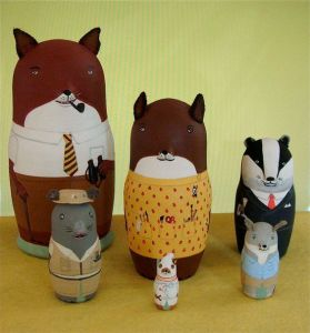Includes all the critters you know and love from the stop motion Fantastic Mr. Fox. Adorable.