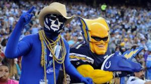 Seems like neither is a fan of the Indianopolis Colts. But down in San Diego, they seem like old pals.