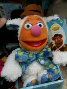 "From Tough Pigs: ""Yes, he still looks like Fozzie's evil twin, but at least he's an evil twin in a good mood. He might even be forgiven for the lamb costume. But that tie is not helpful. That is a very bad tie."""