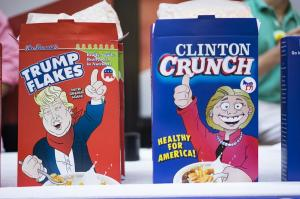 Just go with the Clinton Crunch, please. The Trump Flakes contain too many nuts.