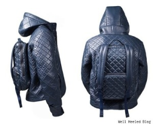This one has the backpack attached to the jacket. Hope it's detachable for warm weather.