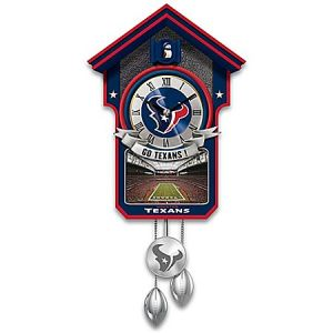 If it didn't have the Houston Texans stuff on it, it would just be a plain red, white, and blue cuckoo clock. But putting football stuff doesn't enhance its beauty.