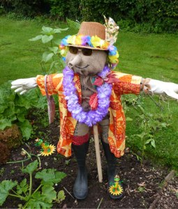 That or on his way to a Jimmy Buffett concert. Wonder if there are people in Hawaii who have scarecrows in their gardens.