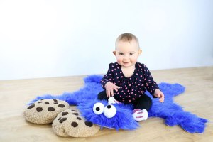 Not sure what to make of this because it seems like someone killed Cookie Monster and made a rug from his skin. But I do like the cookie pillows.