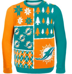 If we're talking about Miami Dolphin fans, I think an ugly Christmas light weight shirt would be more appropriate. But to each his own.