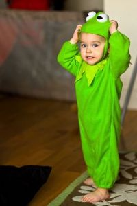 Yes, this little kid may be green. But he's so adorable as Jim Henson's most famous frog. So cute.