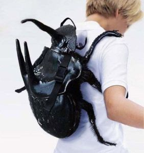That's disgusting, especially with the horns on the front and back. May or may not be allowed in schools. Creepy.