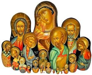 Well, iconography from Russian and Eastern European churches. Some figures may repeat.