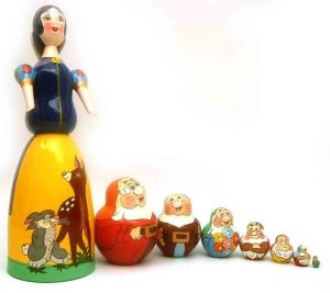 The dwarves on here seem considerably smaller than Snow White. But that's to be expected.