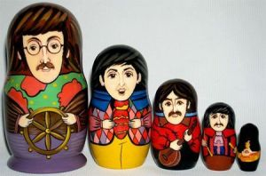 It's from the cartoon they were in during the late 1960s. So having a nesting doll set of Yellow Submarine is inevitable.