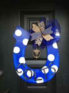 After all, it's a horse symbol. Not to mention, the polka dots on blue even add to its charm.