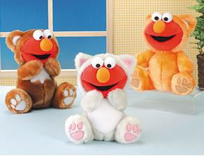 "From Tough Pigs: ""Elmo had so much fun at the furry convention, he went back the next year. So, from left to right, Elmo is a bear, a cat, and... another cat?"""