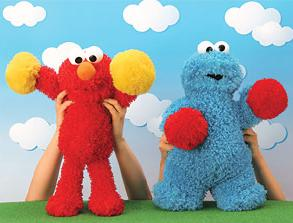From what their hand gestures suggest, it can go either way. I mean Elmo seems like he's cheering. Cookie Monster seems like he's training for a boxing match.