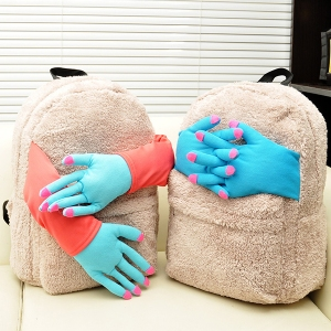 Because there's nothing more heartwarming than seeing two disembodied muppet hands embracing a backpack. Wonder what happened to the muppets who had them.
