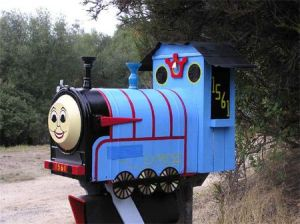 Well, this seems kind of fancy for Thomas. But it'll do. So cute.