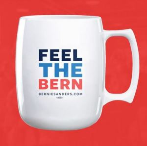 For some reason, this is just the thing to put on a mug. Don't mind if he calls himself a Socialist.