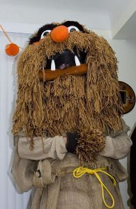 Guess this takes up a lot of brown yarn. Not sure if making a Sweetums outfit is worth that much time.
