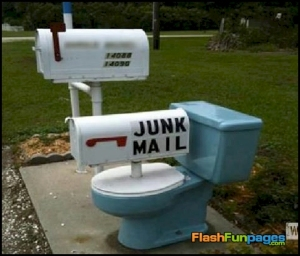 Well, I have to admit that whoever made this has quite the sense of humor. Yes, junk mail is a pain.